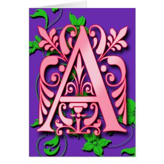 Marquez avec des lettres un monogramme pour carte de vœux