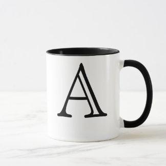 Marquez avec des lettres une tasse
