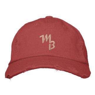 Marquez le rouge de casquette de boule de logo de