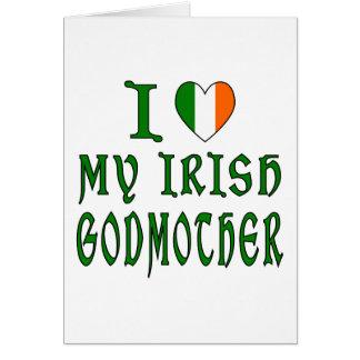 Marraine d'Irlandais d'amour Carte De Vœux