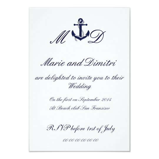Marriage nautique invitation