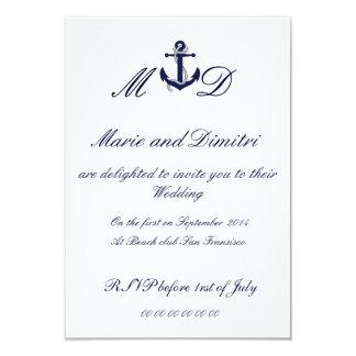 Marriage nautique invitation