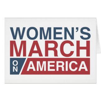 Mars des femmes sur l'Amérique Carte De Vœux