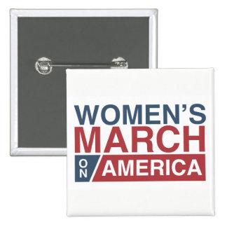Mars des femmes sur l'Amérique Pin's
