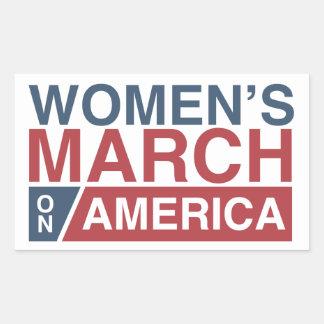 Mars des femmes sur l'Amérique Sticker Rectangulaire