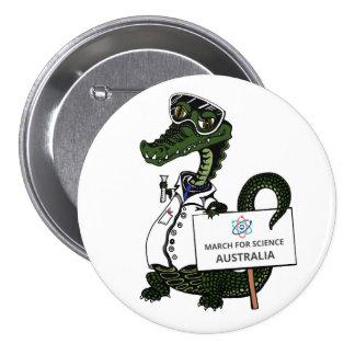 Mars pour la Science Australie - crocodile - Badges