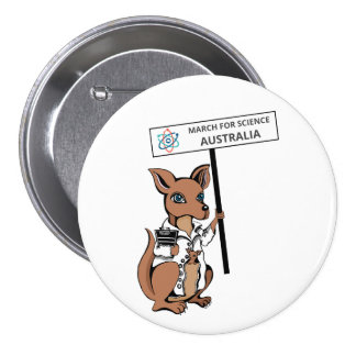 Mars pour la Science Australie - kangourou - Badge