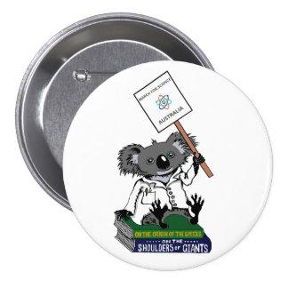 Mars pour la Science Australie - koala Badge