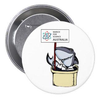 Mars pour la Science Australie - requin - Badge