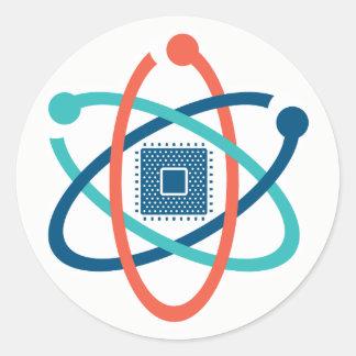 Mars pour l'autocollant 1 du SV de la Science Sticker Rond