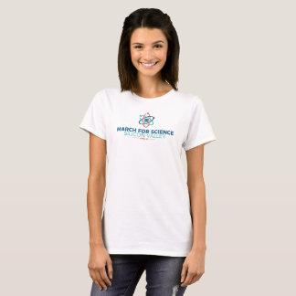 Mars pour le blanc de base du T-shirt des femmes