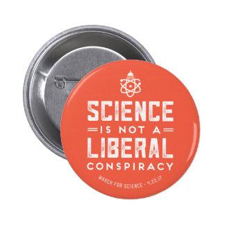 Mars pour le bouton de la Science de soutien de la Pin's