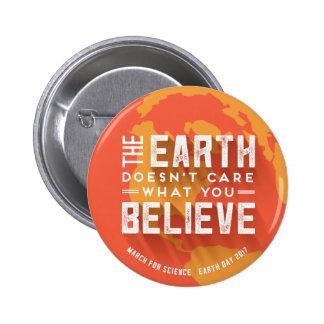 Mars pour le bouton de réchauffement climatique de badge