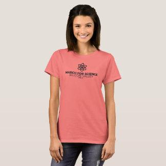 Mars pour le corail de base du T-shirt des femmes