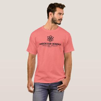 Mars pour le corail du T-shirt des hommes de base