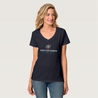 Mars pour l'obscurité de T-shirt du V-Cou des