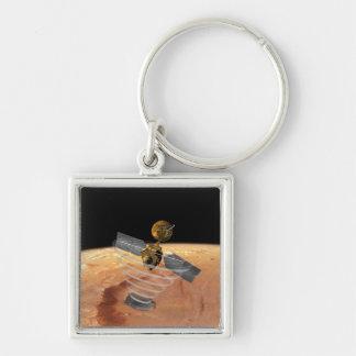 Mars Reconnaissance Orbiter Porte-clé Carré Argenté