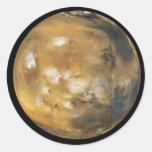 Mars !  Une belle image de l'espace.  LA NASA Adhésif Rond