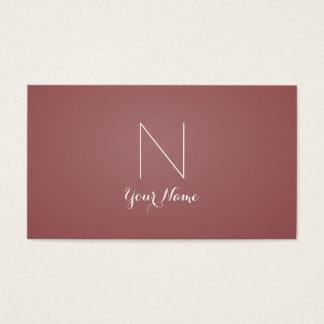 Marsala - audace sophistiquée et décorée d'un cartes de visite