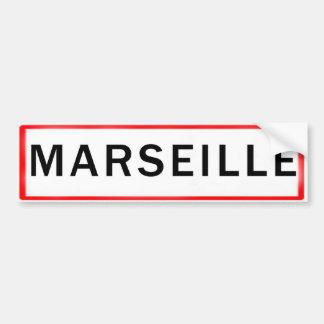 MARSEILLE AUTOCOLLANT POUR VOITURE