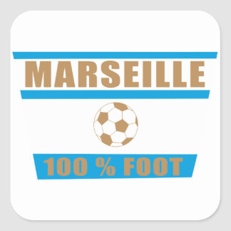 Marseille football sticker carré