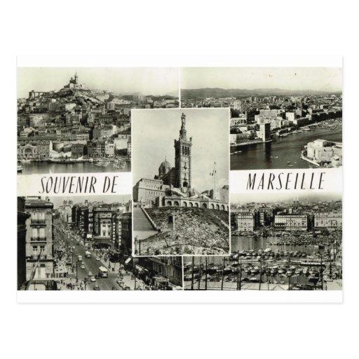 Marseille, multiview tôt carte postale
