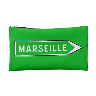 Marseille, panneau routier, France Trousse De Toilette