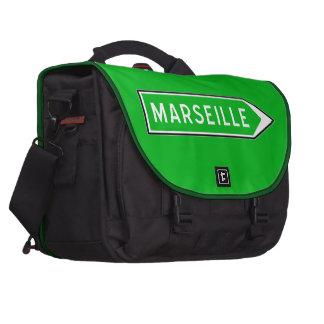 Marseille, panneau routier, France Sacoche Ordinateur Portable