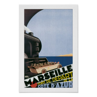 Marseille - Point de Depart Poster