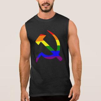 Marteau et faucille d'arc-en-ciel t-shirt sans manches