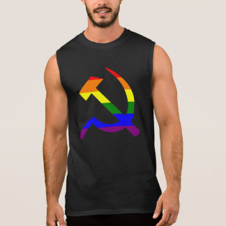 Marteau et faucille d'arc-en-ciel tee-shirts sans manches