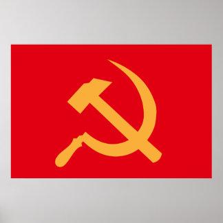 marteau et faucille de l'URSS de cccp Poster