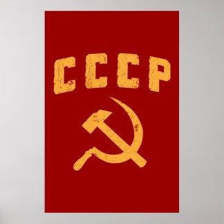 marteau vintage et faucille de l'URSS de Russe de  Poster