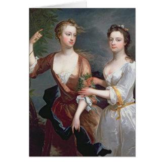 Martha et Teresa Blount, 1716 Carte De Vœux