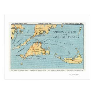 Martha's Vineyard et îles de Nantucket Carte Postale