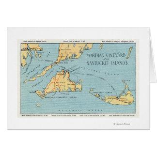 Martha's Vineyard et îles de Nantucket Cartes