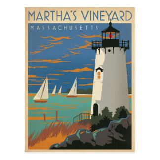 Martha's Vineyard, mA - phare Cartes Postales