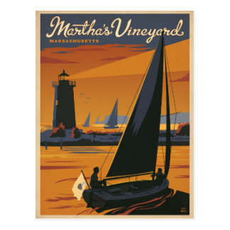 Martha's Vineyard, mA - voilier Carte Postale