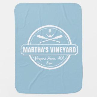 Martha's Vineyard, ville de mA, nom, ancre Couverture De Bébé