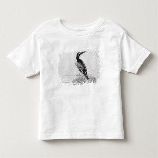 Martin-pêcheur noir et blanc t-shirt pour les tous petits