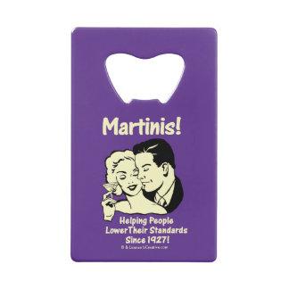 Martini : Normes inférieures de aide
