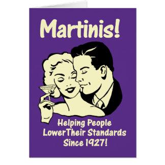 Martini : Normes inférieures de aide Carte De Vœux