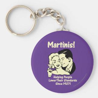 Martini : Normes inférieures de aide Porte-clé Rond