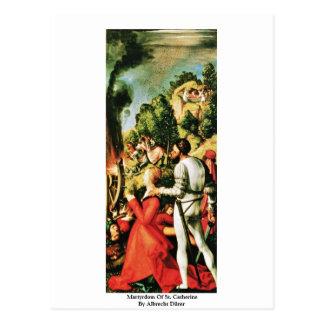 Martyre de St Catherine par Albrecht Dürer Cartes Postales