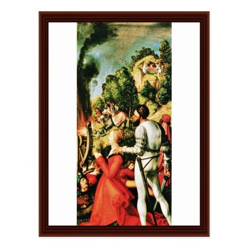 Martyre de St Catherine par Albrecht Dürer Carte Postale