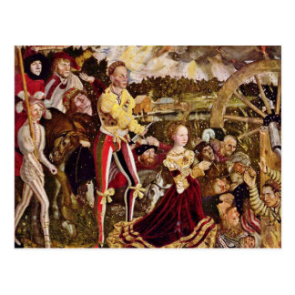 Martyre de St Catherine par Cranach D. Ä. Lucas Carte Postale