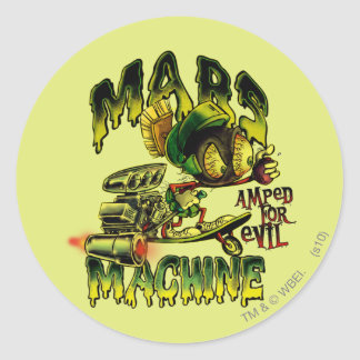MARVIN la machine de MARTIAN™ Mars Sticker Rond