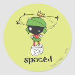 MARVIN le MARTIAN™ espacé Sticker Rond