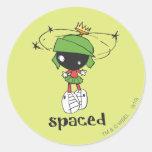 Marvin le Martien espacé Autocollants Ronds