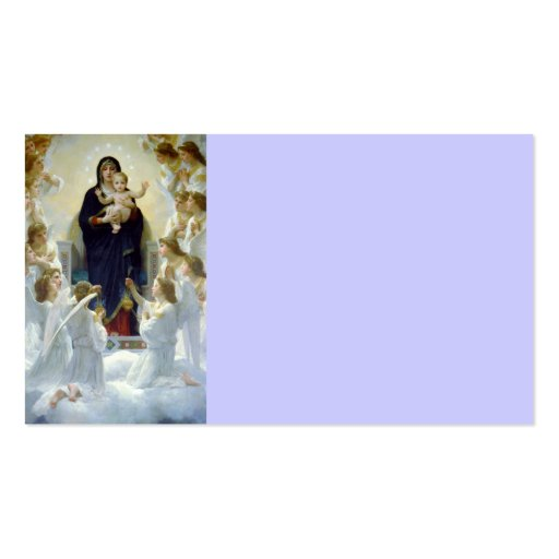 Mary avec des anges - Regina Angelorum Modèle De Carte De Visite